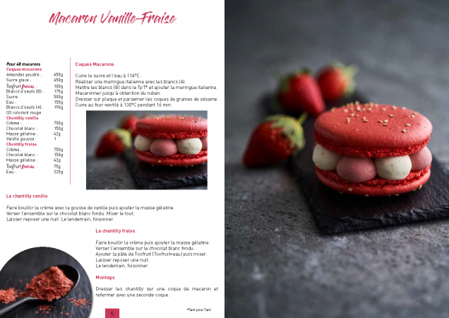Recette Macaron Vanille fraise